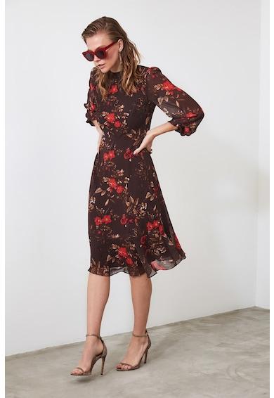 Trendyol Миди рокля с набирания Жени