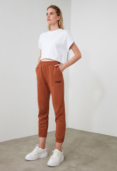 Trendyol Спортен панталон с висока талия и еластични краища Жени