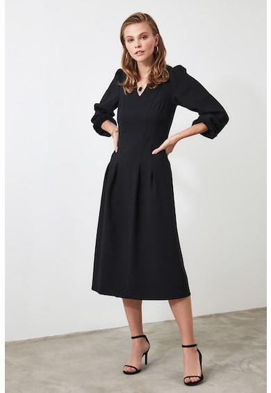 Trendyol Разкроена рокля с плохи Жени
