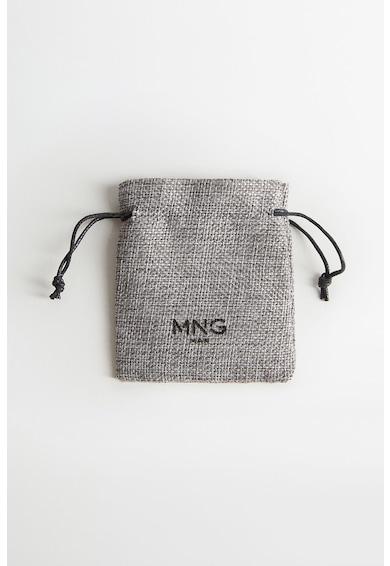 Mango Кожена гривна Lea с иноксов елемент Мъже