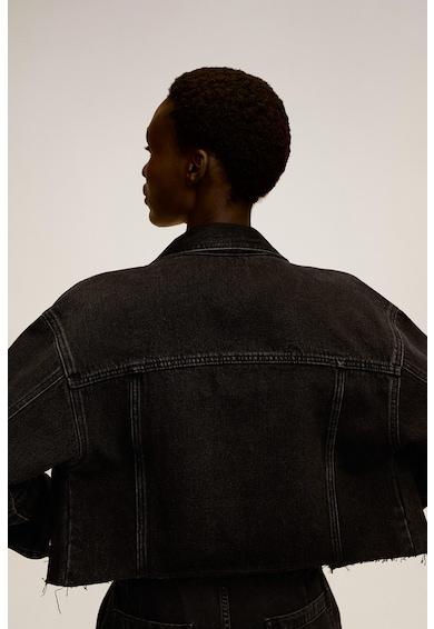 Mango Дънково яке Emma с дизайн с незавършен подгъв Жени