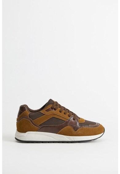 Mango Pantofi sport de piele intoarsa cu garnituri de piele ecologica Runsoft Barbati