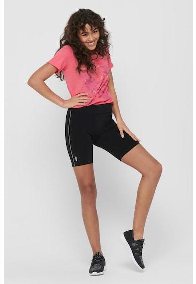 Only Play Pantaloni scurti cu detalii contrastante, pentru fitness Femei