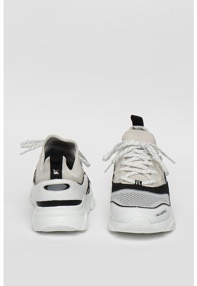 Karl Lagerfeld Pantofi sport slip-on din piele si material textil Verge Barbati