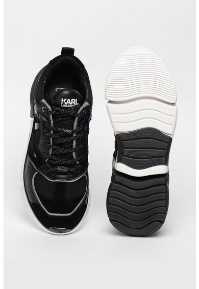 Karl Lagerfeld Pantofi sport din piele si material textil Venture Barbati