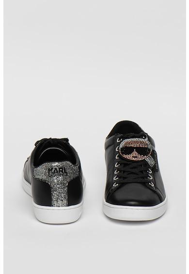 Karl Lagerfeld Pantofi sport din piele cu aplicatii cu strasuri Kupsole II Femei