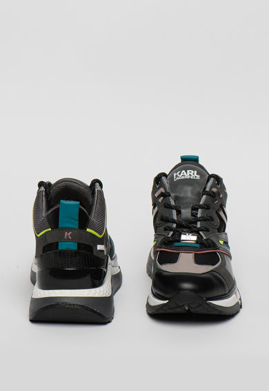 Karl Lagerfeld Pantofi sport mid-high din piele cu aspect masiv Aventur Femei