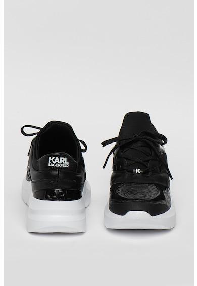 Karl Lagerfeld Pantofi sport din piele cu insertii de plasa Delta Lo Femei