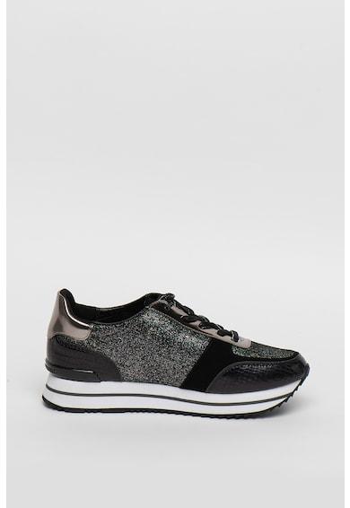 Karl Lagerfeld Pantofi sport din piele cu logo si detalii stralucitoare Velocita Femei