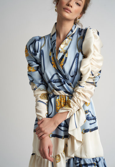 Monarh Rochie evazata cu model petrecut Femei