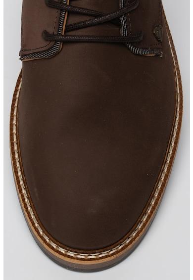 Bullboxer Ghete de piele cu garnitura texturata Barbati