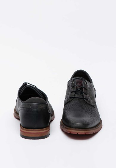Bullboxer Pantofi derby de piele cu aspect texturat Barbati