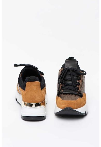 Bullboxer Pantofi sport wedge cu insertii de piele intoarsa Femei