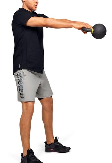 Under Armour Tricou cu imprimeu logo, pentru fitness Charged Barbati