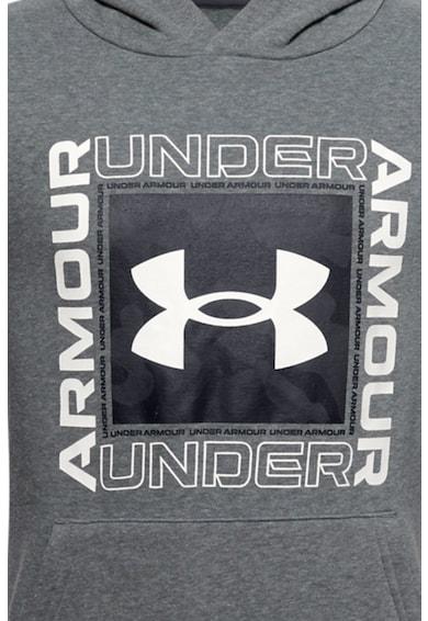Under Armour Hanorac cu logo, de fleece Rival Baieti