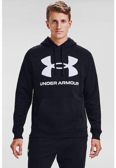Under Armour Hanorac cu imprimeu logo si maneci raglan pentru fitness Rival Barbati