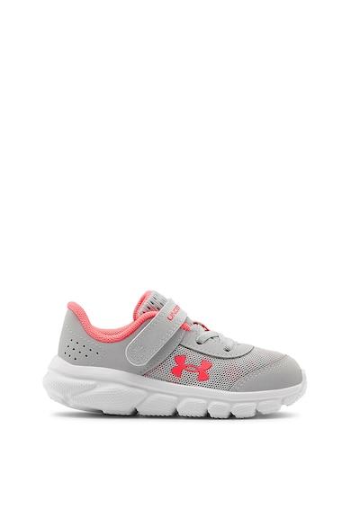 Under Armour Pantofi cu insertii de piele, pentru alergare Assert Fete