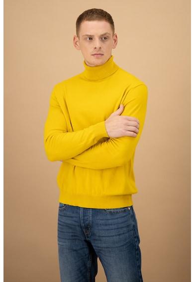 United Colors of Benetton Pulover tricotat fin cu guler inalt Barbati