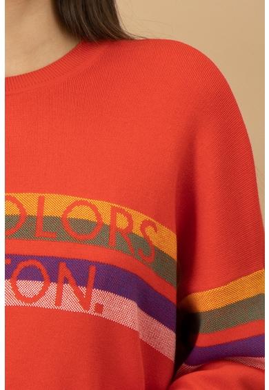 United Colors of Benetton Pulover tricotat fin cu decolteu la baza gatului Femei