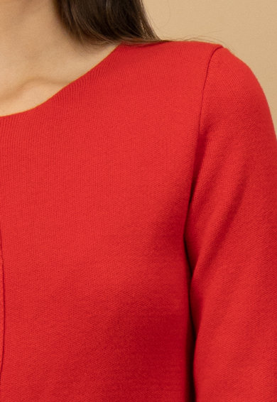 United Colors of Benetton Rochie dreapta midi din amestec de lana Femei