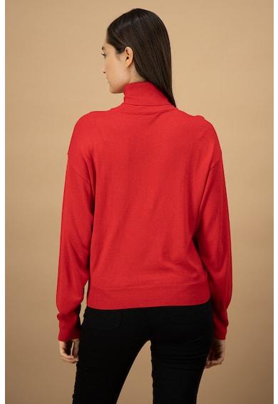 United Colors of Benetton Pulover tricotat fin din amestec de lana cu guler inalt Femei