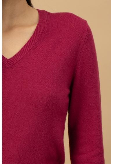 United Colors of Benetton Pulover de lana Merinos virgina, cu decolteu in V Femei