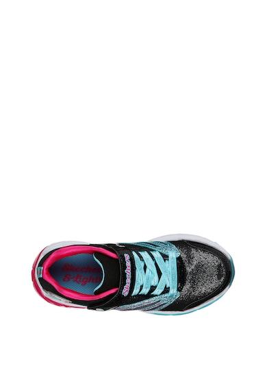 Skechers Pantofi sport cu velcro S Lights - Fusion Flash Fete
