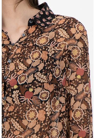 Maison Scotch Флорална риза с контрастни маншети и яка Жени