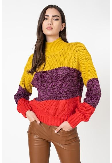 Maison Scotch Colorblock dizájnos pulóver női