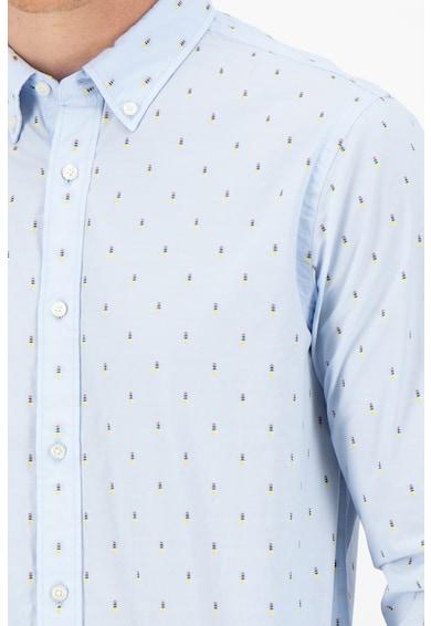 Scotch & Soda Риза с дълги ръкави и фигурална щампа Мъже