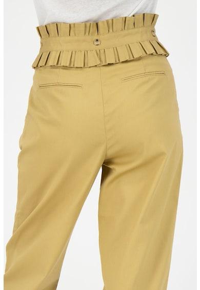 Maison Scotch Pantaloni crop cu garnituri plisate Femei
