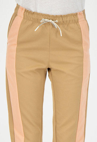 Maison Scotch Pantaloni jogger crop, cu garnituri laterale contrastante Femei