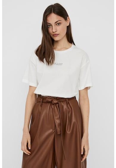 Vero Moda Tricou de bumbac organic cu text Magic Femei