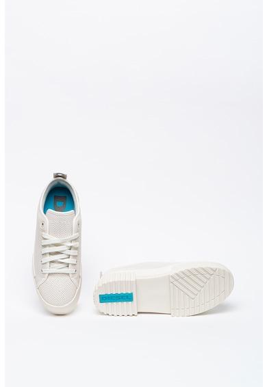 Diesel Pantofi sport flatform de piele cu perforatii Merley Femei