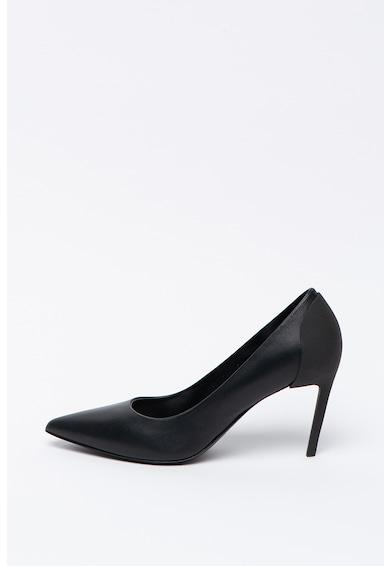 Diesel Pantofi de piele cu detaliu logo Femei