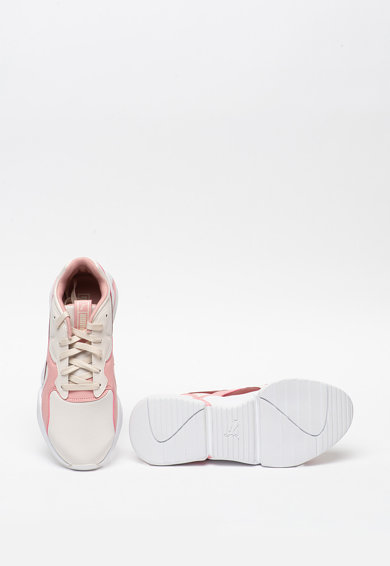 Puma Pantofi sport din piele ecologica si material textil Nova Femei
