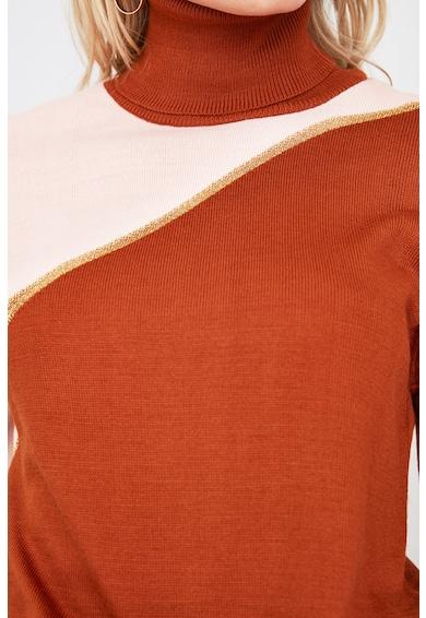 Trendyol Pulover tricotat fin cu model colorblock Femei