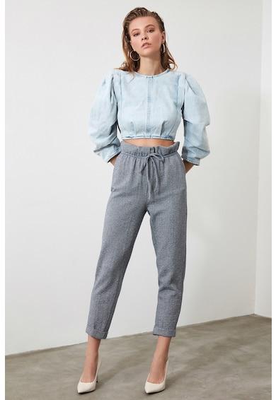Trendyol Pantaloni crop conici cu talie inalta Femei