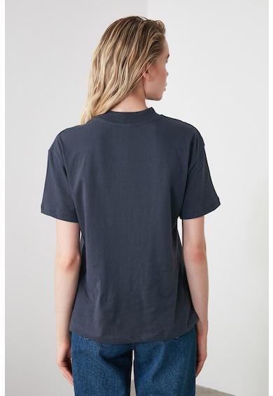 Trendyol Tricou de bumbac cu guler scurt Femei