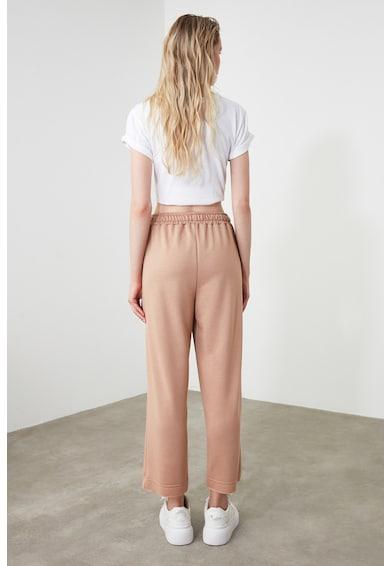 Trendyol Pantaloni sport drepti cu aspect deteriorat Femei