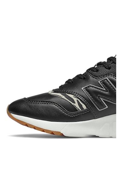 New Balance Pantofi sport de piele si garnituri de piele ecologica Femei