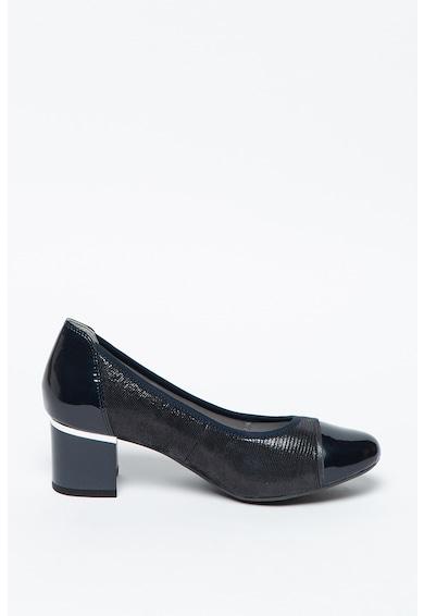 Caprice Pantofi din piele si piele lacuita cu toc inalt Femei