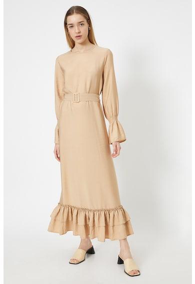 KOTON Дълга рокля с дипли на подгъва Жени