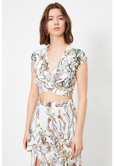 KOTON Bluza crop cu imprimeu floral Femei