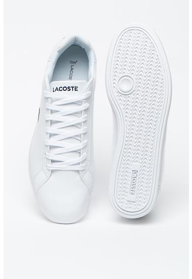 Lacoste Pantofi sport de piele si piele ecologica, cu broderie logo Graduate Barbati