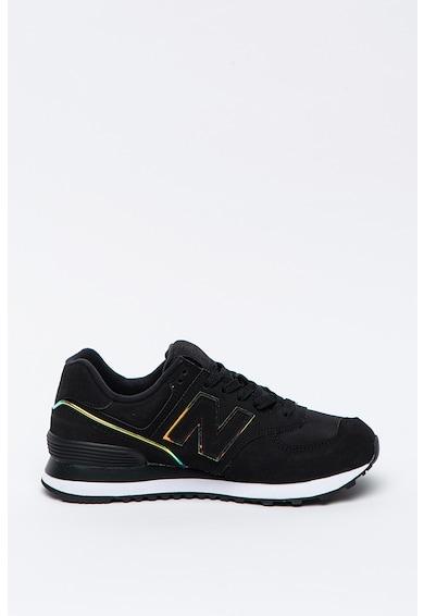 New Balance Pantofi sport de piele cu aplicatie cu monograma 574 Femei