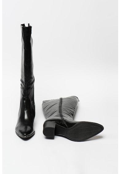Marco Tozzi Cizme lungi pana la genunchi de piele ecologica cu toc masiv Femei