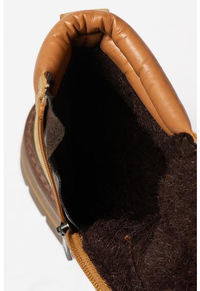 Marco Tozzi Bocanci de piele nabuc cu garnituri contrastante Femei