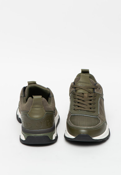 Marc O'Polo Pantofi sport cu insertii din piele intoarsa Barbati