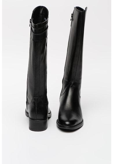 Tamaris Cizme lungi pana la genunchi din piele si piele ecologica cu varf migdalat Femei